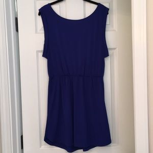 Bright Blue Dress with Low Back